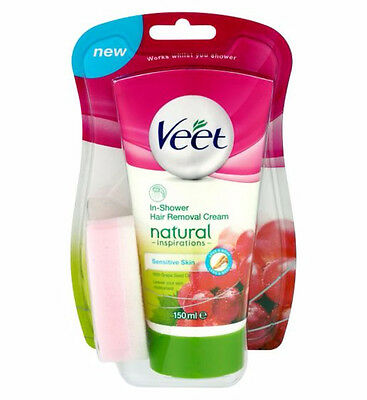 Veet Natural Inspirations In-Shower Hair Removal Cream 150ml