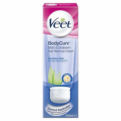 Veet Bodycurv Bikini & Underarm Hair Removal Cream for Sensitive Skin - 100ml