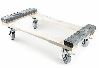 """NK Furniture Movers Dolly Rubber End Caps 30""""  x 17""""  (5"""" TPR Wheels) with Brake"""