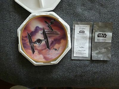 Star Wars Tie Fighter Collector's Plate by The Hamilton Collection