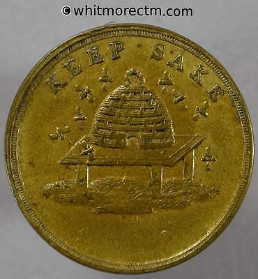 New Years Gift Keep sake Token 22mm Beehive & Bees