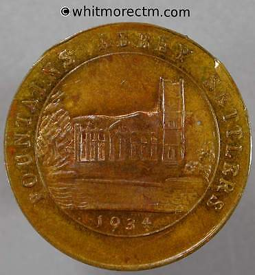 1934 Ripon Token Fountains Abbey Settlers 25mm 30% Luster Exchange for labour