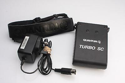 Quantum Turbo Slim Compact battery with charger and strap