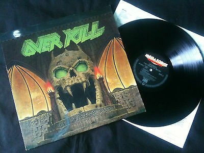 Overkill - The Years Of Decay  LP Europe 1989 VG+/EX   # Thrash