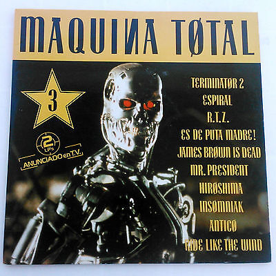 Maquina Total 3 Max Music 2 x LP PARTIALLY MIXED EDITION 1992 Techno Euro House