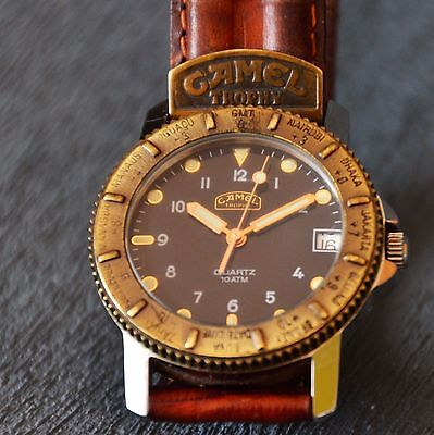 Camel Trophy Adventure Watch Green Belt Very Rare used Mercedes Benz branded