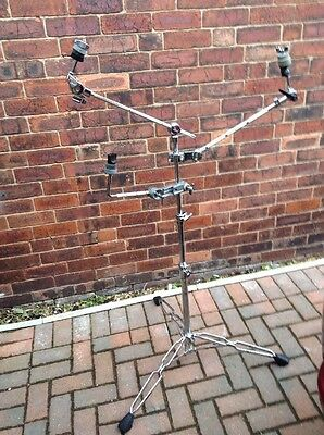 Free P&P. Pearl Disappearing Boom Arm Cymbal Stand w Two Additional Arms. Triple