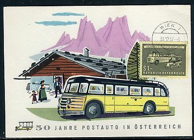 Autriche - Carte Maximum 1957 - Car Postal