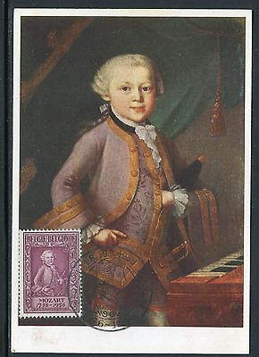 Belgique - Carte Maximum 1956 - Mozart