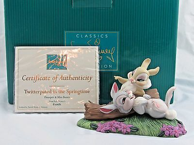 """WDCC """"Twitterpated in the Springtime"""" Thumper & Miss Bunny from Bambi in Box COA"""