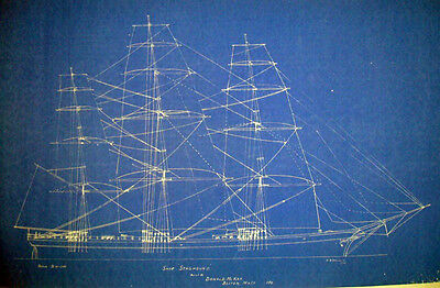 Clippership Donald McKay Staghound 1850 Print Blueprint Plans 2pgs (229)