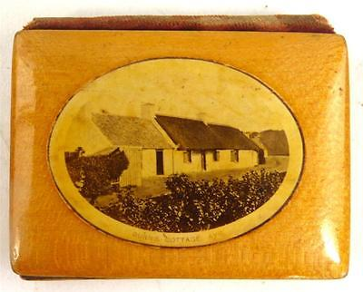 Antique 19Thc Mauchline Ware Needle Case Sewing Kit Burns Cottage 169