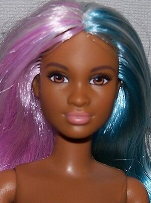 Nude Barbie - Fashionista Evolution Petite Doll African American Dual Hair Color