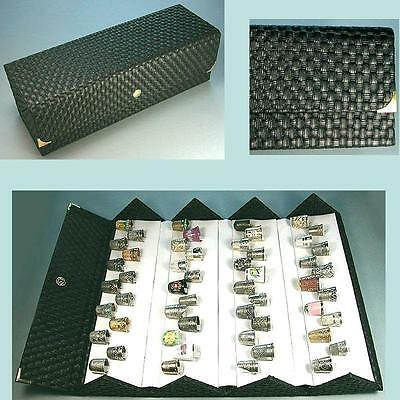 LARGE Folding Thimble Display Case * Holds 52 Thimbles