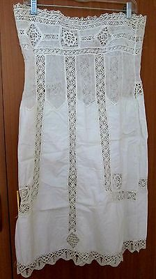 Antique museum quality lace wedding lingerie  1870-s from Russia