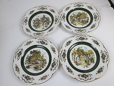 Ascot Service Plate Decorative Wall Plates by Wood and Sons Lot of 4