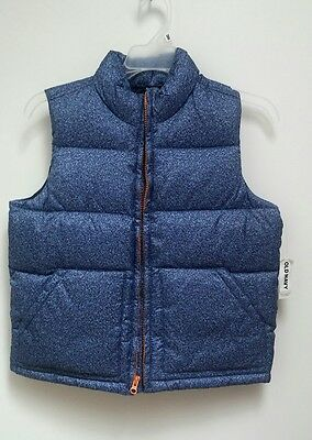 NWT OLD NAVY Boys Puffer Vest Size 8 Medium M