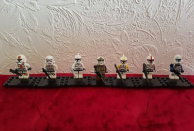 Star Wars Minifigure Clone Bundle x 7 Fit Lego