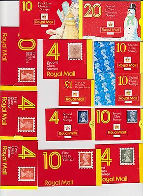 Mint Face Value £32.52  Stamps  In    Booklets