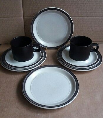 Vintage Doverstone Heather 2 x cups 2 x saucers and 4 x Tea Plates