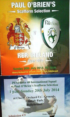 Scafform Select V Republic Of Ireland Over 40S 20/7/2014 +Ticket @cherry Orchard