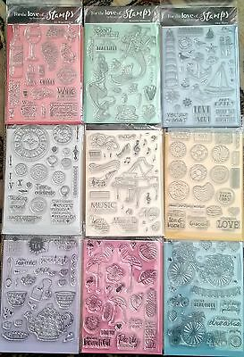 Hunkydory For the Love of Stamps Clear Stamps Sets x 9 - Set C