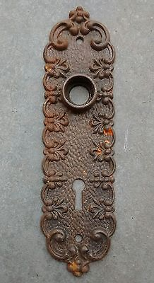 Antique Victorian Art Nouveau Eastlake Door Knob Back Plate - Rare Design