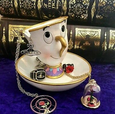 Walt Disney's Beauty and the Beast Chip Cup Jewellery Tray holder / Ornament