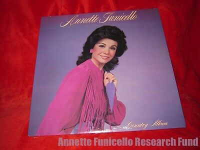 Personal Property of Annette Funicello Country Album 1984 Signed COA Glen Holt