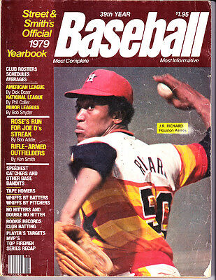 1979 Street & Smiths official baseball yearbook J.R. Richard Houston Astros