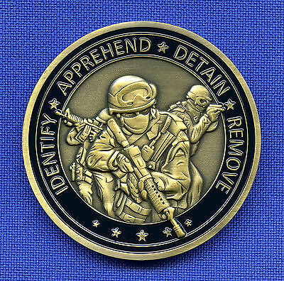 US Immigration Customs Enforcement & Removal Ops DHS ICE ERO LEO Challenge Coin