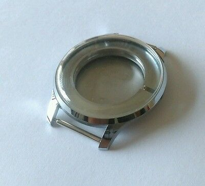 Stainless Steel Watch Case 10 1/2 Swiss Outside Diameter 37mm Inside 23.75mm