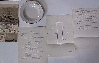 John F Kennedy Owned & Used By Jfk Plate From The Honey Fitz Presidential Yacht