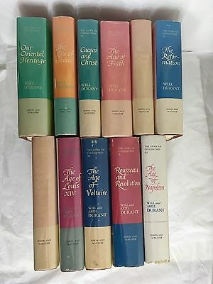 The Story of Civilization by Will and Ariel Durant - Complete 11 Volume Set