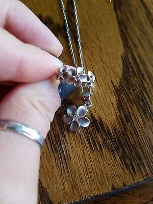Hawaiian plumeria jewelry sterling silver