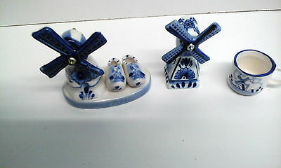 Collection of Miniature Blue and White Ornaments from Amsterdam - New