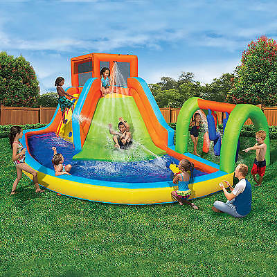 Banzai Summit Splash Adventure Park (Inflatable Water Slides With Cannon And