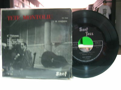 "Tete Montoliu Y Su Conjunto 7"" Ep Spanish Somebody Loves Me + 3. 1959 Saef"