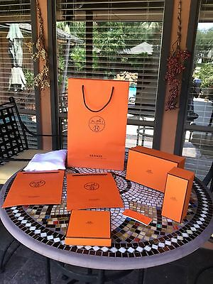 Hermes gift boxes, gift bags, etc Lot