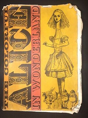 RARE 'The Colorful Alice In Wonderland' c1940-60s by Litho in U.K.