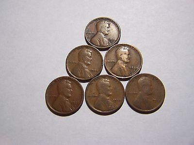 6-Lincoln Wheats 1913 1918 1927-S 1927-D 1927 1928-S