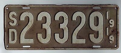 Antique 1919 South Dakota License Plate  23329 (Updated Photos)  USED RARE