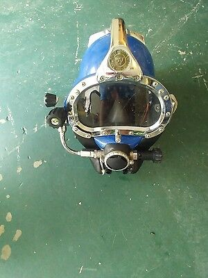 kirby Morgan 57 dive helmet with pelican box great condition