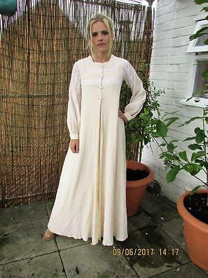 Outstanding Vtg 70S Maxi Dress And Waistcoat Sz 8 Boho Wedding Festival Rare