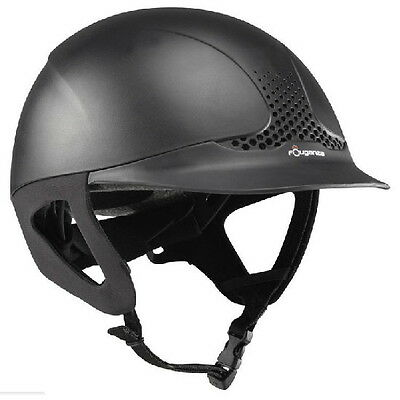 Fouganza Horse Riding Safety Helmet Ventilated Rider Comfort Auto Adjust Black