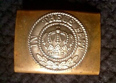 Pre-WW1, Minty Bavarian Enlisted Man's Brass Belt Buckle, Kingdom of Bavaria