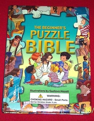 Puzzle Bible, Beginner's Story Book 6 Jigsaw Puzzles Children Age 3-7 Jesus Noah
