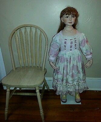 """Rare!!! 44"""" Inch Duck House """"Heirlooms"""" Porcelain Life Size Doll."""