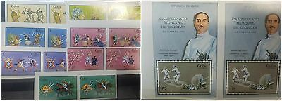 O) 1969 Caribe, Imperforate, Ancient Egyptians In Combat-Roman Gladiators-Viking