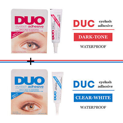 Colla Duo Eyelashes Glue Waterproof Bianca Nera asciugatura rapida qualità Dark